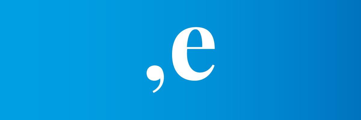 Si usare la E dopo la virgola?