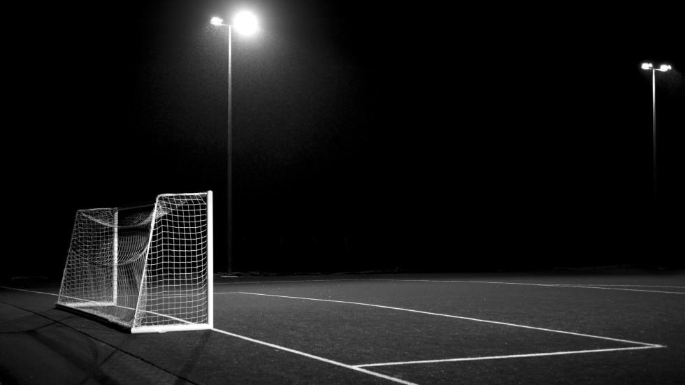 campo da calcio di notte