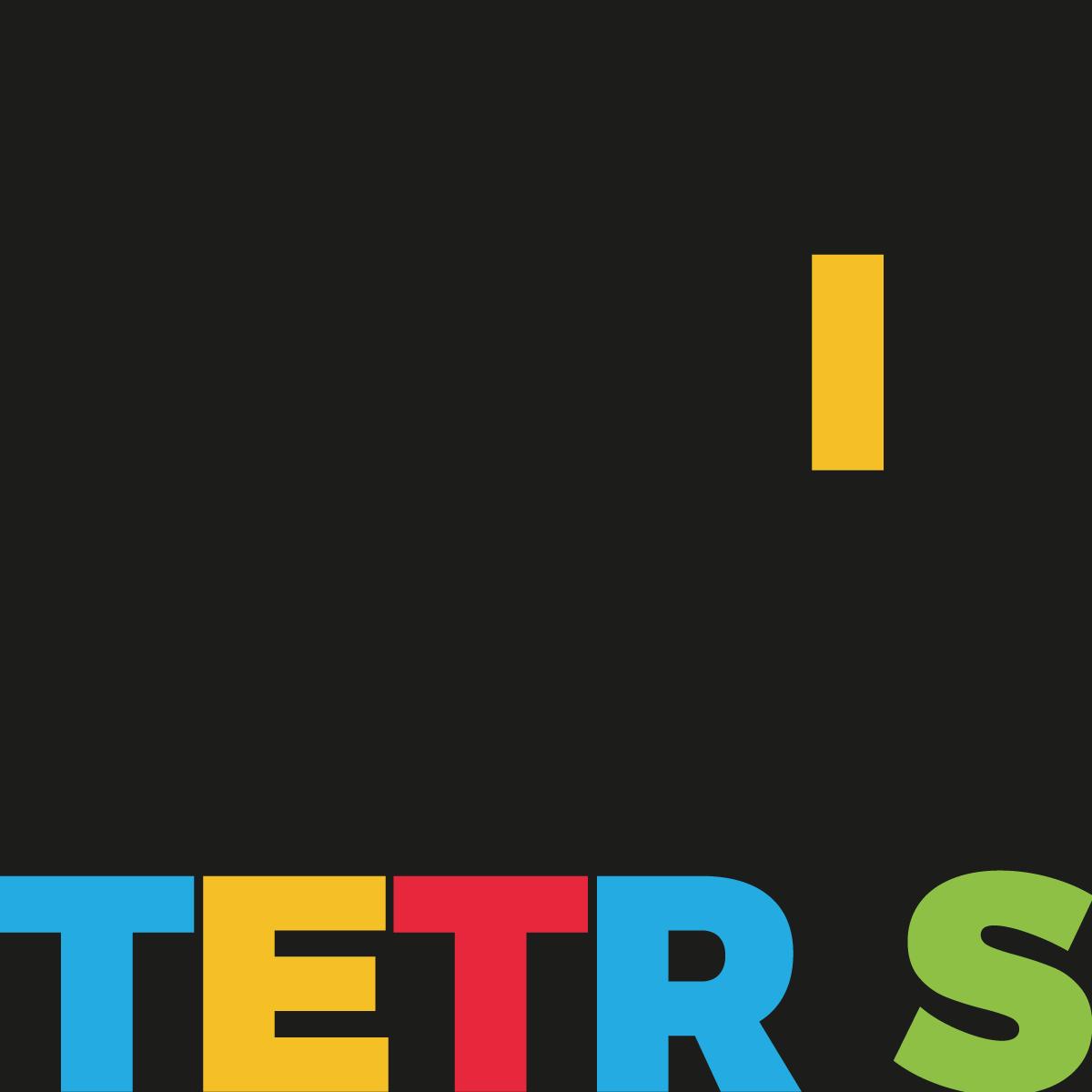 Tetris lettering design