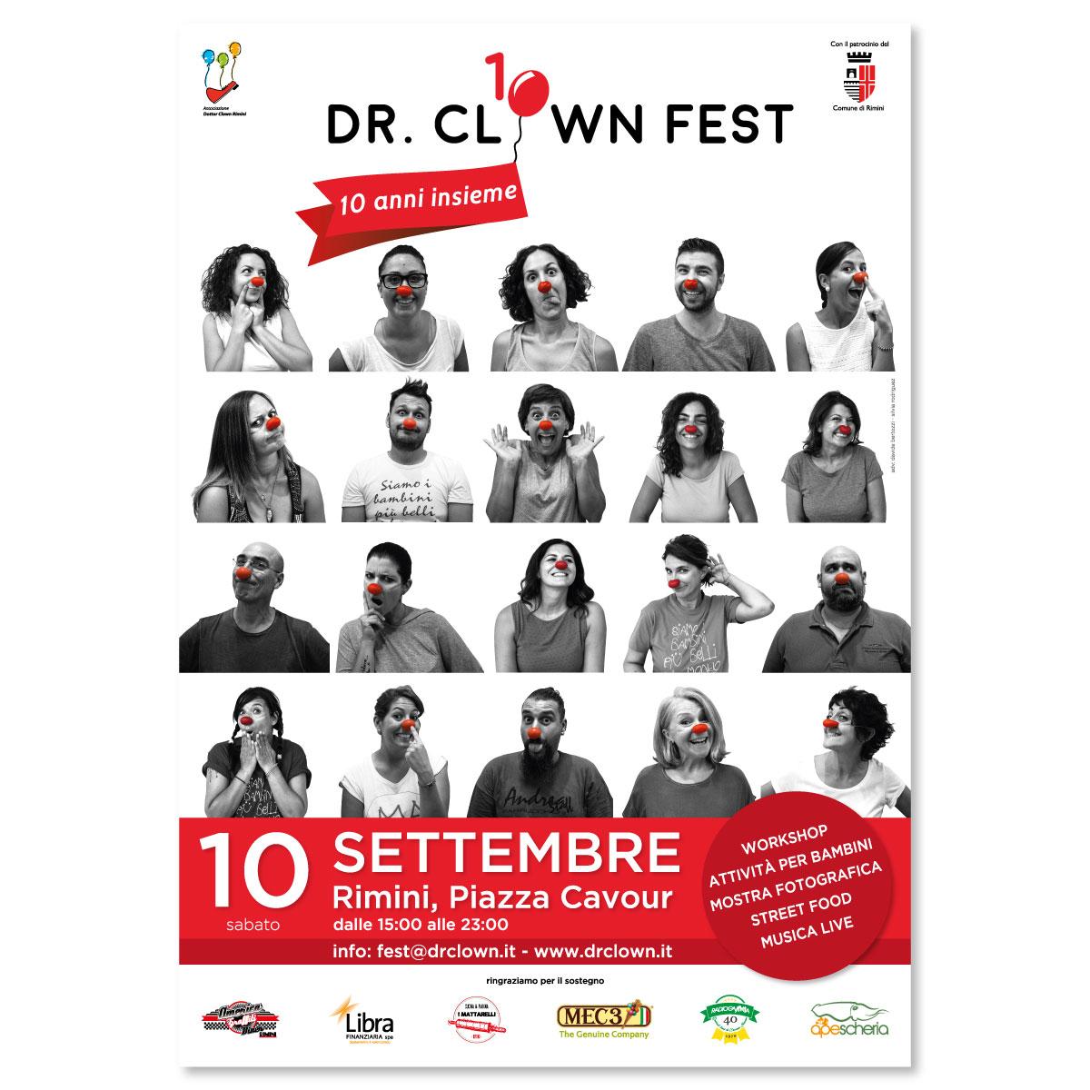 Naming, logo design e concept di comunicazione per Dr. Clown Rimini