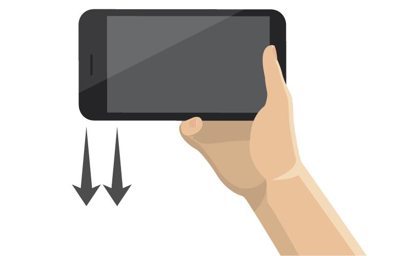 Lo smartphone in orizzontale è scomodo